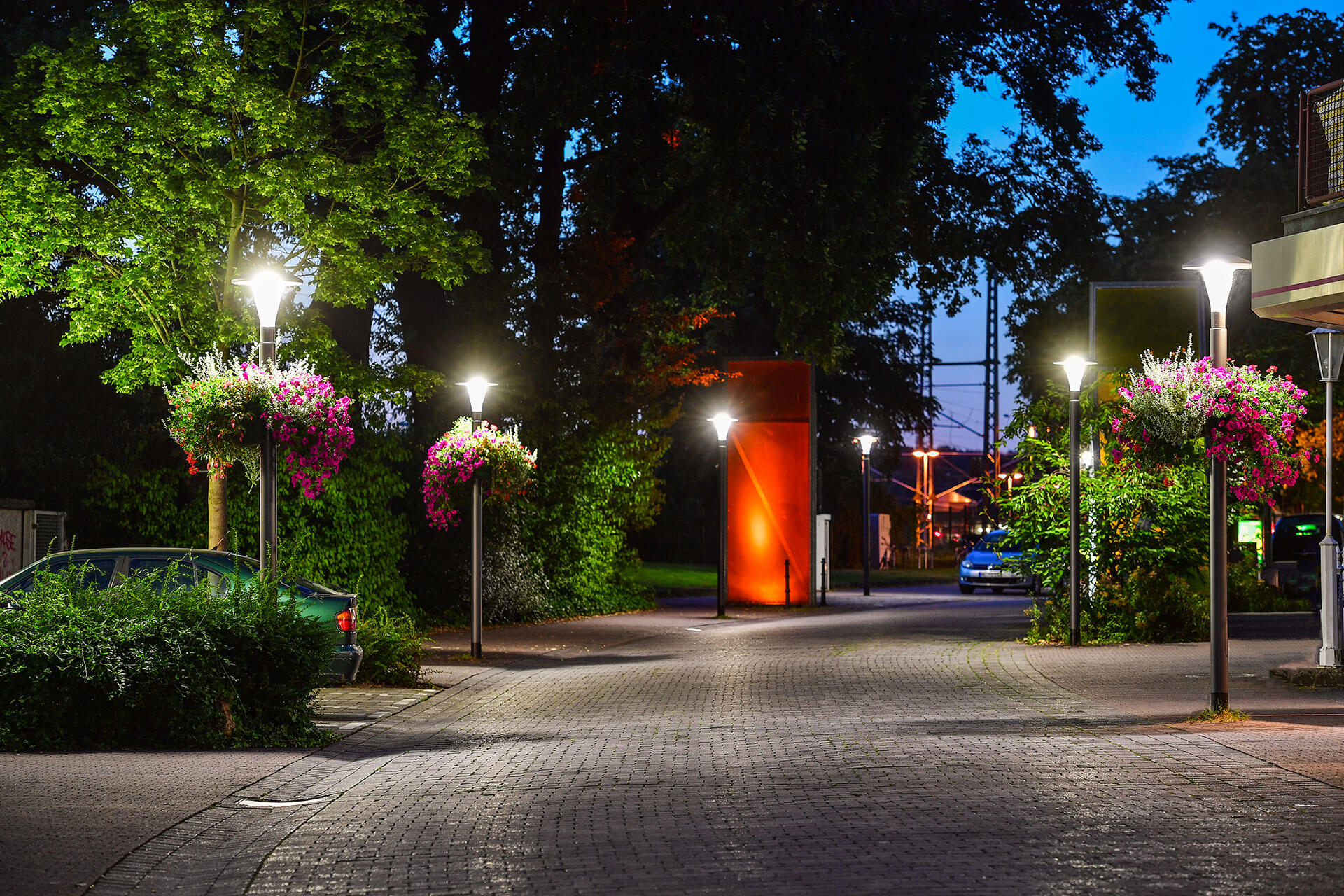 Pilzeo urban luminaire brings an aesthetic touch to the landscapes of Herzogenrath and Würselen in Germany