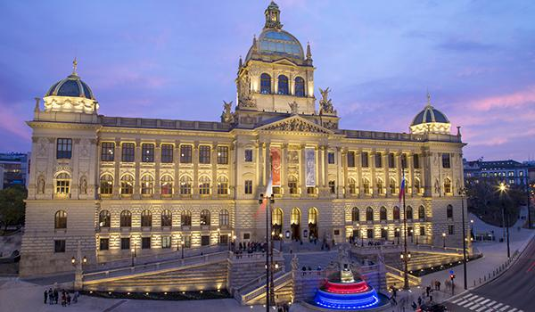 The relighting of the National Museum in Prague as revitalised the building and area, improving social cohesion